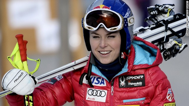 Lindsey Vonn is tuning up for Olympic selection at the French ski resort of Val dIsère.