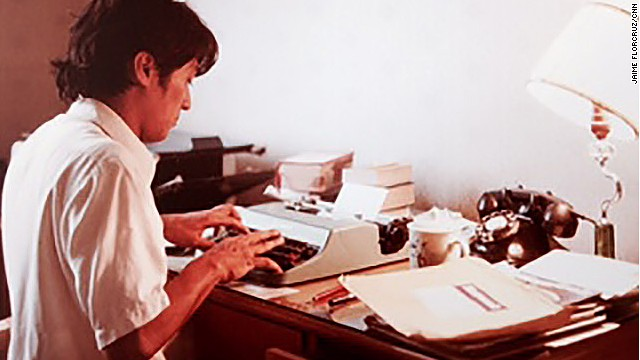 CNN's Beijing bureau chief Jaime FlorCruz has been working as a journalist in China for three decades. Here he files a report for Newsweek Magazine's Beijing bureau in 1981.