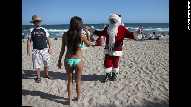 Tapp has been visiting the beach in Fort Lauderdale as Santa Claus for more than 25 years.
