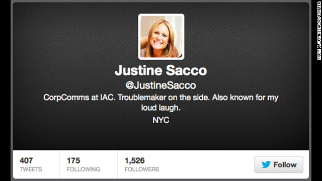 """You would think someone who works in public relations would know better, but Twitter fails don't discriminate. Justine Sacco, a former PR exec with media company IAC, <a href='http://www.cnn.com/2013/12/22/world/sacco-offensive-tweet/' target='_blank'>lost her job after posting this jaw-dropping tweet</a> in 2013: """"Going to Africa. Hope I don't get AIDS. Just kidding. I'm white!"""""""