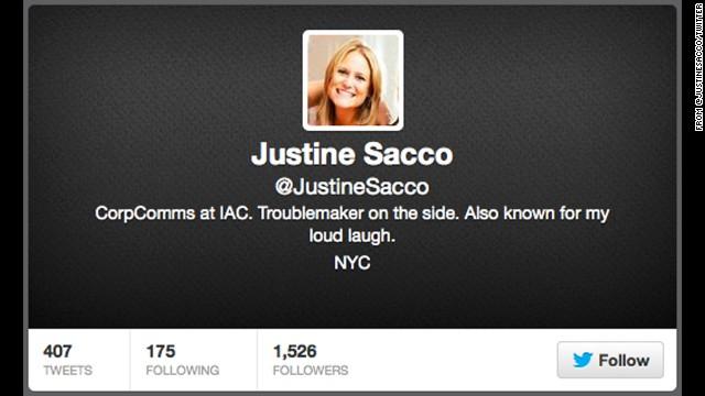 """""""Avergonzada"""": la exejecutiva Justine Sacco se disculpa por su tuit sobre el SIDA en África"""