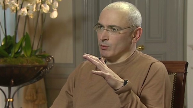 Russian dissident Mikhail Khodorkovsky speaks out