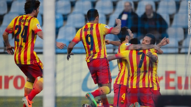 Barcelona had reason to celebrate Sunday, coming back to beat Getafe 5-2 to return to the summit in La