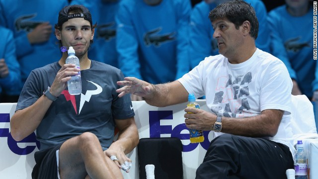 No, Rafael Nadal hasn't parted with his uncle Toni. They've been together since Nadal was a child. On occasion Francisco Roig has filled in for Toni Nadal.