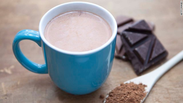 Cocoa is packed with antioxidants, which reduce your levels of cortisol, a stress hormone that causes your body to cling to belly fat, says Tara Gidus, a nutritionist based in Winter Park, Florida. In fact, one Cornell University study found that the concentration of antioxidants in hot chocolate is up to five times greater than it is in black tea. <!-- --> </br><!-- --> </br>Hot chocolate's combination of carbs and protein can also help your muscles recover faster from a tough workout, according to research in the International Journal of Sport Nutrition and Exercise Metabolism. Adding a dash of cinnamon boosts your treat's health benefits even more -- it contains compounds that keep insulin out of the blood stream and from storing fat, says Gidus. <!-- --> </br><!-- --> </br><a href='http://www.health.com/health/recipe/0,,10000000521786,00.html' target='_blank'>Try this recipe: Mexican hot chocolate</a>