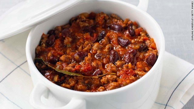 If soup is filling and protein builds muscle, then chili has all that and more. The combination of the fiber from the tomatoes and the protein from the beans and beef and prevents overeating. Plus, capsaicin, the compound that gives cayenne, chili peppers, and jalapeños their heat, can also torch fat, says weight-loss specialist and board-certified internist Dr. Sue Decotiis. <!-- --> </br><!-- --> </br>Spices trigger your sympathetic nervous system -- which is responsible for both the fight-or-flight response and spice-induced sweating -- to increase your daily calorie burn by about 50 calories, she says. That equals about 5 pounds lost over a single year. <!-- --> </br><!-- --> </br><a href='http://www.health.com/health/recipe/0,,50400000124166,00.html' target='_blank'>Try this recipe: Chili from scratch</a>