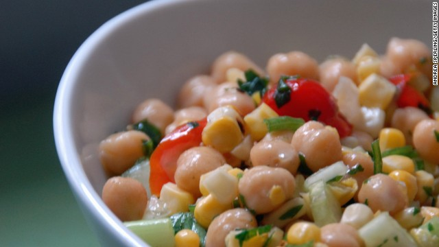 Whether you call them garbanzos or chickpeas, a half-cup serving of these hearty legumes provides about 40% of your daily protein needs and 70% of your daily fiber intake, helping to stabilize blood sugar, <a href='http://www.health.com/health/gallery/0,,20435321,00.html' target='_blank'>control cravings</a> and prevent overeating, Gidus says. <!-- --> </br><!-- --> </br>They're also a great source of healthy unsaturated fats that can whittle your waistline. A 2009 study from the University of Newcastle in Australia found that participants who consumed the most unsaturated fats had lower body mass indexes and less belly fat than those who consumed the least.<!-- --> </br><!-- --> </br><a href='http://www.health.com/health/recipe/0,,50400000113216,00.html' target='_blank'>Try this recipe: Cumin-spiced chickpeas</a>