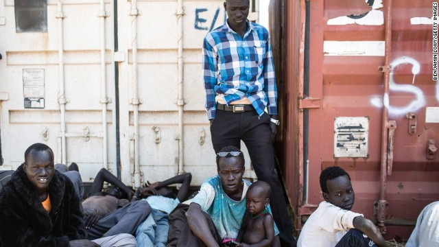 Up to 40,000 civilians have taken refuge in U.N. bases in the country, the world body says. These civilians were photographed on December 17 at one of the bases.