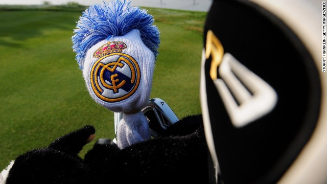 Sergio Garcia is a Real Madrid supporter, as shown by one of his head covers for his golf clubs. But his interest in football runs much deeper than just supporting the nine-time European champion...