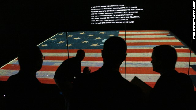 "How could we skip the District of Columbia, even if it isn't a state? The national anthem, ""The Star Spangled Banner,"" turns 200 this year. The <a href='http://amhistory.si.edu/starspangledbanner/' target='_blank'>National Museum of American History</a> plans to celebrate on Flag Day (June 14). No need to wait, however. The almost 200-year-old, 30-by 34-foot flag is on permanent display, and the exhibit explores the making of the flag that inspired the Francis Scott Key song, written in 1814 after the author saw the flag waving above Fort McHenry as British ships were withdrawing from Baltimore."