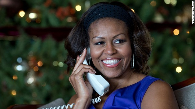 Michelle Obama answers NORAD's Santa hotline
