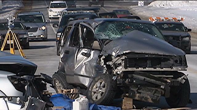 Un bombero encuentra a su hija a punto de morir en un accidente en Nochebuena