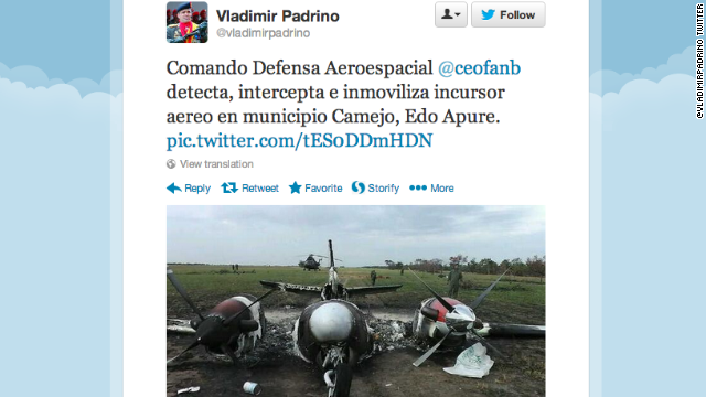 """Venezuela """"inmoviliza"""" una avioneta que habría entrado a su espacio aéreo"""