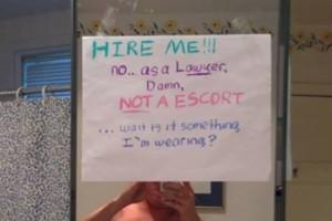 'Selfie' para que lo contrataran
