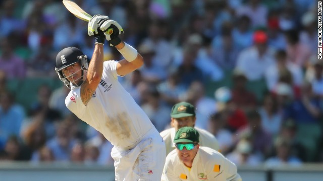 Kevin Pietersen, like many of his teammates, has had a series to forget. But he was England's best batsman Thursday, scoring a 67 not out.