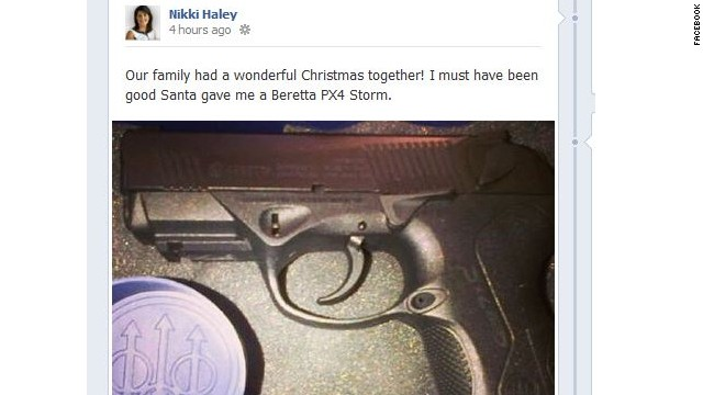 South Carolina governor got a gun from 'Santa'