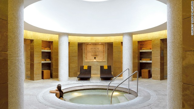 This Tuscan spa uses exotic ingredients such as diamonds, gold and Antarctic ice in its facial treatments.