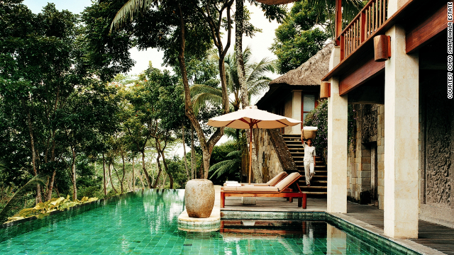 Options at this retreat set among rice paddies include aquatherapy and mountain biking.