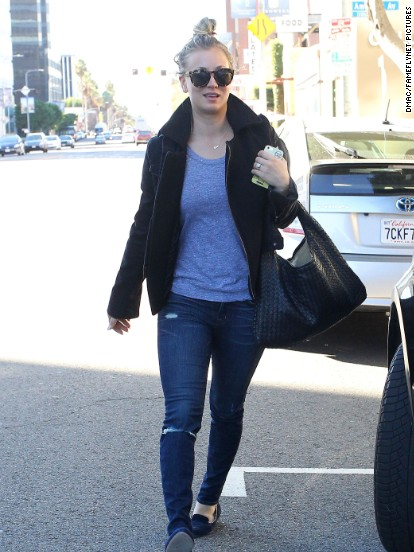 Kaley Cuoco heads to the salon in Los Angeles on December 27.