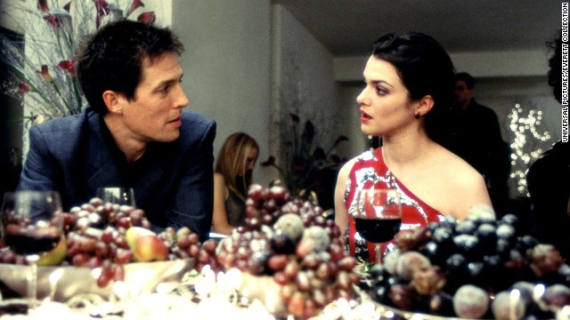 "<strong>""About a Boy""</strong> -- Soon to be seen as a midseason television show, this first adaptation of Nick Hornby's novel involved a romantic New Year's Eve party, in which Hugh Grant's charming-but-directionless character meets Rachel Weisz's, and the two fall for each other. Of course, it's all predicated on a lie (that he, too, is a single parent). The real relationship in the movie is the one between Grant's Will and Nicholas Hoult's 12-year-old Marcus, the fatherless boy next door."
