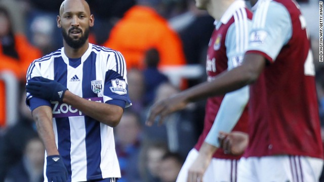 West Brom player Nicolas Anelka has been charged by the English Football Association for making an anti-Semitic gesture last month. The striker denies intending to cause any offense but the French government has criticized him.