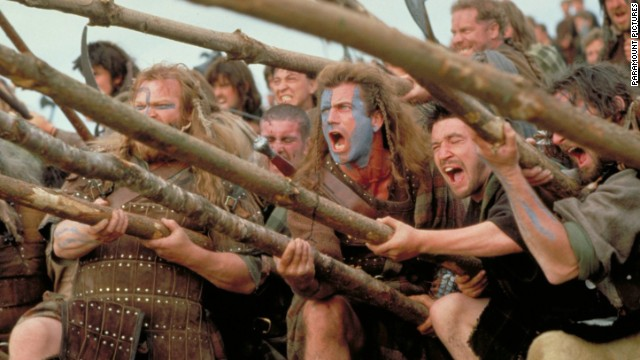 "<strong>""Braveheart""</strong> -- Mel Gibson's bloody 1995 epic about Scottish warrior William Wallace won five Oscars, including Best Picture."