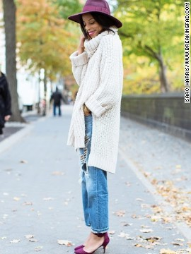 """You can never have too many chunky beige sweaters come fall in New York City,"" Lloyd says."