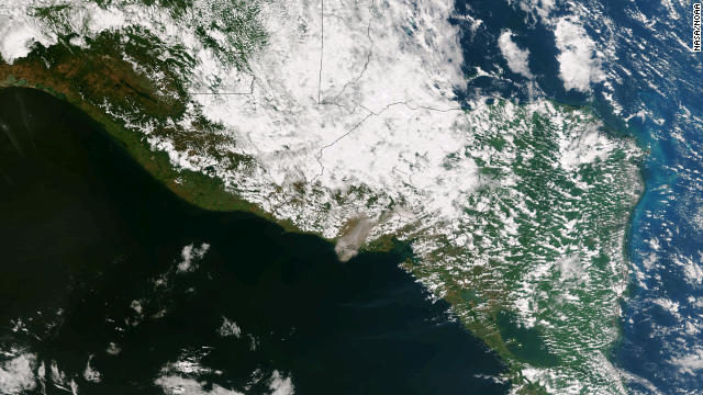 Así se vio el volcán Chaparrastique desde el espacio tras la erupción