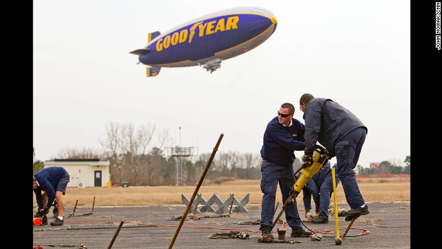 Photos: Wrangling the Goodyear blimp