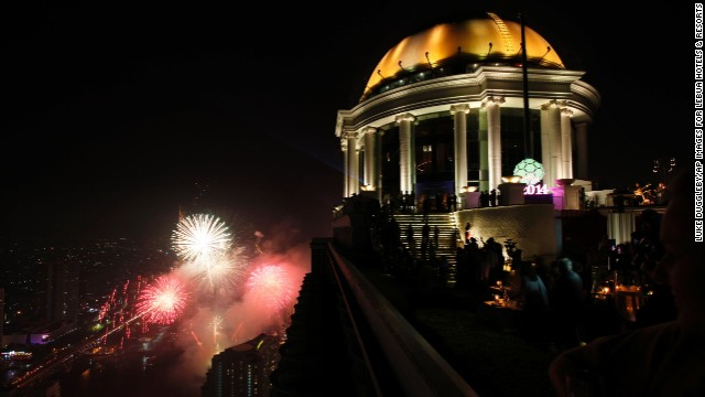 The Bangkok Ball Drop, in Thailand's capital, became the highest New Year's Eve ball drop in the world at 266 meters (872 feet).