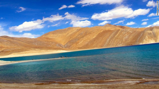 Some of the dental volunteers visited Pangong Lake, about 18,000 feet above sea level along the Tibetan border in India.