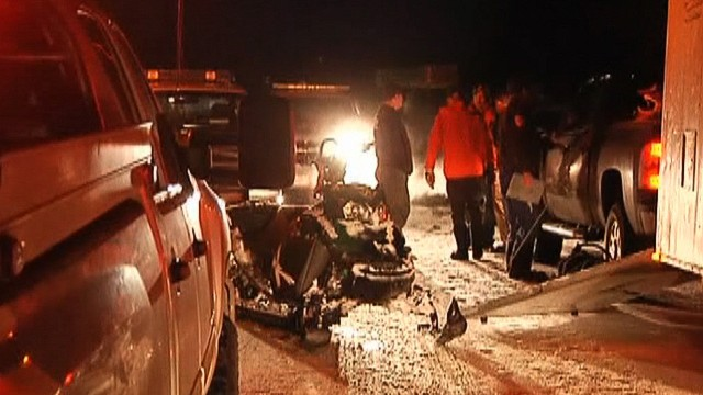 The man who died was in a group of three snowmobile drivers who triggered the avalanche, the sheriff said.