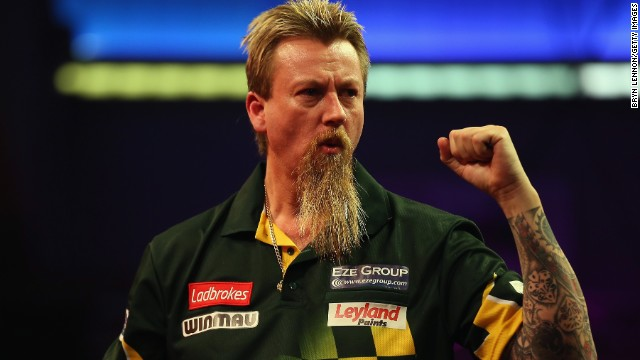 Australia's Simon Whitlock has won plenty of admirers -- and not just for his darts. Nicknamed 'The Wizard,' he won the European Championship in 2012.