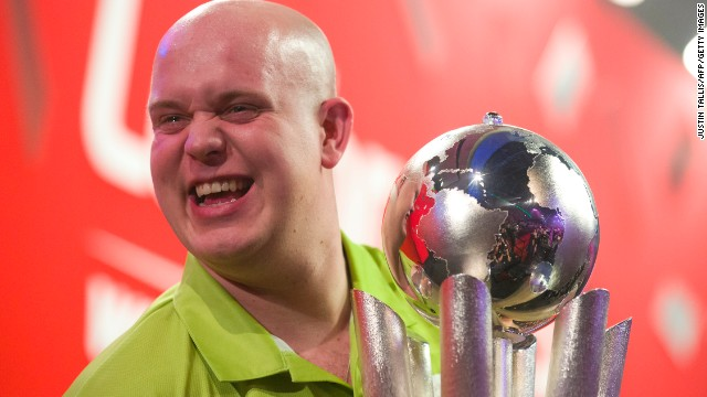 Van Gerwen defeated Wright 7-4 to win the this year's World Championship. The Dutchman, who was beaten in the 2013 final, claimed the top prize of $412,000.