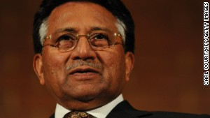 Former Pakistani President General Pervez Musharraf speaks in London on September 29, 2010.