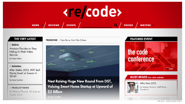 Re/code – New site launched by AllThingsD founders