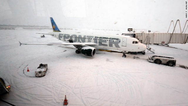 An airplane waits for passengers at O'Hare International Airport in Chicago on January 2.