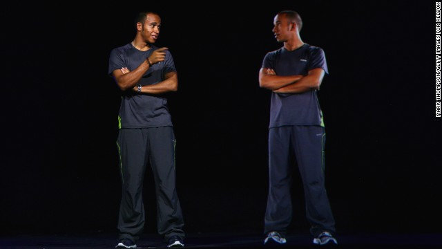 In 2008, Musion allowed Formula 1 driver <strong>Lewis Hamilton</strong> to come face-to-face with ... himself, at the launch of sports brand Reebok's new clothing line in Amsterdam, Netherlands.