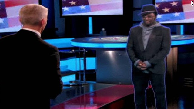 But his first holographic outing came in 2008, as he appeared during CNN's coverage of the U.S. presidential elections.