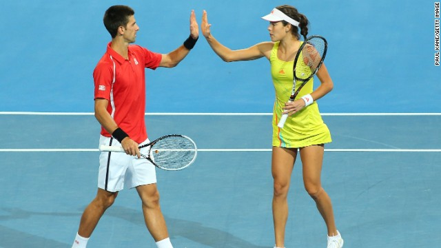 Ivanovic has known compatriot Djokovic since they were four-year-olds and the pair went on to play in junior tennis competitions together. They have also represented Serbia in doubles in the past.
