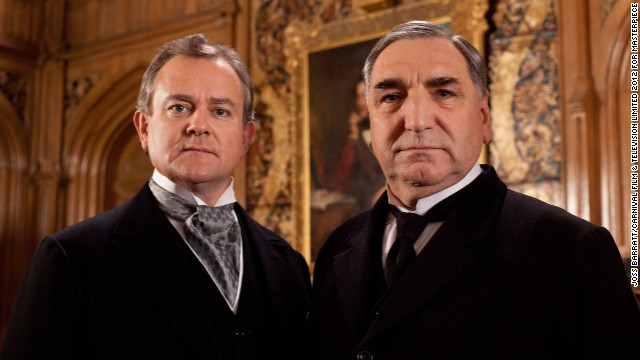 Lord Grantham (Hugh Bonneville, left) is faced with the challenges of getting his widowed daughter back on her feet, as well as getting the estate in a financially sound place. (Jim Carter as Mr. Carson pictured, right.)