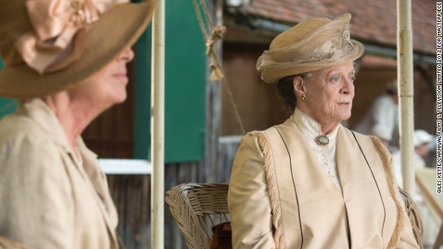 "<strong>Outstanding performance by a female actor in a drama series: </strong>Maggie Smith, ""Downton Abbey"""