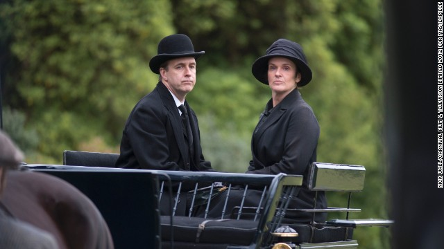Molesley (Kevin Doyle) is without an employer after Matthew's death last season. But we think we'll still be seeing the former butler. (Also pictured, Siobhan Finneran as O'Brien.)
