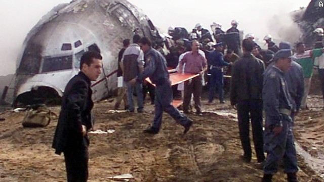Also in 2003, an Air Algerie Boeing 737 crashed shortly after takeoff in the Sahara Desert at Tamanrasset, Algeria. The crash killed 102 passengers and crew. The only survivor was a soldier who was flying back to his Algiers barracks at the end of his leave.