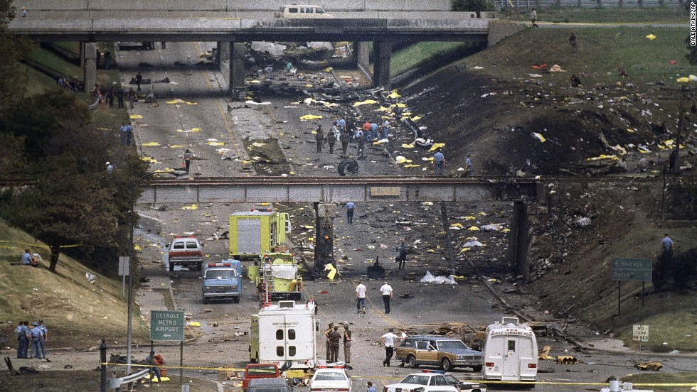 When an MD-82 airliner crashed at Detroit's airport, bodies and debris scattered along a nearby road. Only Cecelia Cichan, age 4, survived.