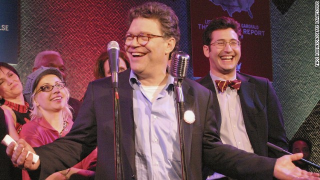 "Former comedian Al Franken, one of the original writers on ""Saturday Night Live,"" won a narrow race in 2008 to become a U.S. senator from Minnesota. The Democrat is running for re-election in 2014."