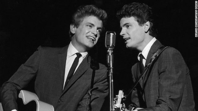 Singer <a href='http://www.cnn.com/2014/01/03/showbiz/singer-phil-everly-dies/index.html'>Phil Everly</a>, left -- one half of the groundbreaking, smooth-sounding, record-setting duo the Everly Brothers -- died on January 3, a hospital spokeswoman said. He was 74.