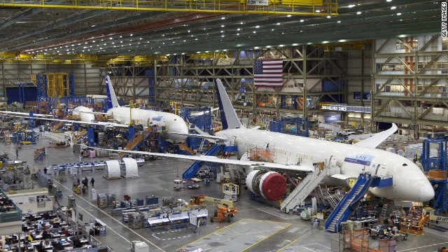 Boeing offers a public tour of its assembly plant in Everett, Washington. It's the largest building in the world by volume, covering 98.3 acres. About 110,000 visitors tour the factory every year.