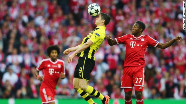 Starting from next season, Robert Lewandowski, middle, will be playing for Bayern Munich not against the German champion.