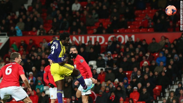 Wilfried Bony continued his good form, scoring the winner for Swansea as it upset Manchester United in the FA Cup.